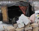 Контрабандист на «УАЗе», убегая от луганских пограничников, врезался в дерево и перевернулся (фото)