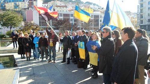 В десяти городах Европы и США прошли митинги в поддержку Евромайдана (фото)