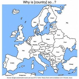 Пользователи Google считают Украину бедной страной (фото)
