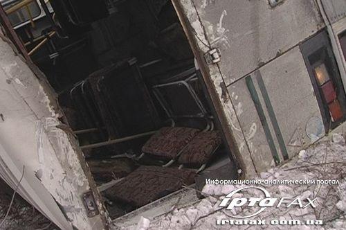 В Красном Луче в кювет вылетел автобус с детьми. Пострадали минимум 7 человек (фото)