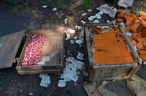 На Закарпатье в бомбоубежище завода обнаружили ящики с наркотиками (фото)